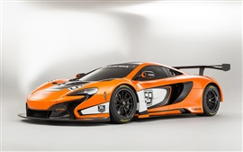 2015 McLaren 650S GT3 orange supercar