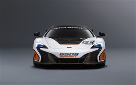 Preview wallpaper 2015 McLaren 650S Sprint white supercar front view