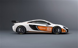 Preview wallpaper 2015 McLaren 650S Sprint white supercar side view