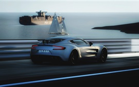 Preview wallpaper Aston Martin ONE-77 supercar speed