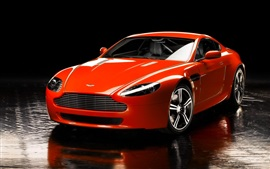 Aston Martin V8 red sport car