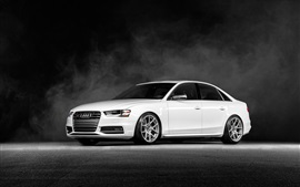 Audi S4 Vorsteiner white car front view