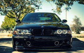 Preview wallpaper BMW M5 E39 black car front view