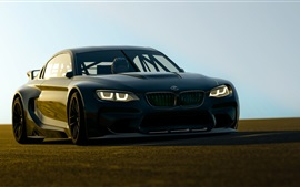 Preview wallpaper BMW black car front view, lights