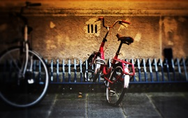 Preview wallpaper Bicycle parking street