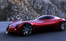 Bugatti Aerolithe concepto superdeportivo rojo
