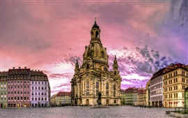 Preview wallpaper Dresden, Germany, buildings, houses, dusk