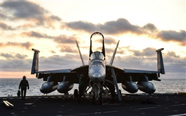Preview wallpaper FA-18E Super Hornet, aircraft, fighter