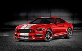 Preview wallpaper Ford Mustang GT350 red car front view
