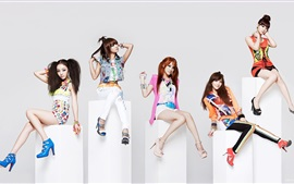 Preview wallpaper Korea KARA girls 01