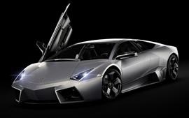 Aperçu fond d'écran Lamborghini Reventon supercar, avant, fond noir