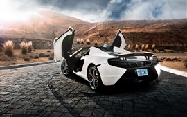 Preview wallpaper McLaren MP4-12C Spider supercar back view