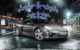 Preview wallpaper Porsche Cayman 981C silvery car front view