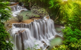 Preview wallpaper Thailand, waterfalls, trees