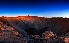 Volcano crater sky, dusk Wallpapers Pictures Photos Images