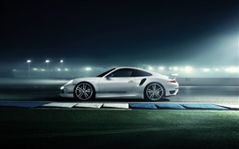 Preview wallpaper 2014 Porsche 911 supercar at road