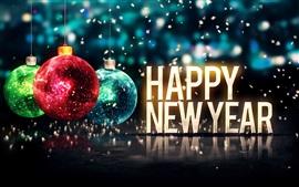Aperçu fond d'écran 2015 Happy New Year, Joyeux Noël, boules