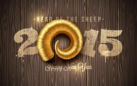 Aperçu fond d'écran Happy New Year 2015, année de moutons