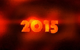 2015 New Year, red fire