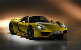 Preview wallpaper 2015 Porsche 918 Spyder supercar front view