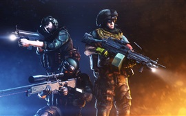 Preview wallpaper Battlefield 3, soldiers, weapon