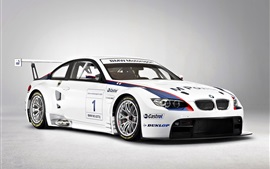Hermoso BMW M3 GT2 supercar vista frontal