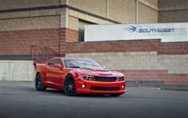 Preview wallpaper Chevrolet Camaro SS red supercar