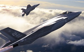 Preview wallpaper F-35 Lightning II, American, fighter