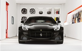 Ferrari FF black supercar front view