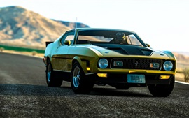 Preview wallpaper Ford Mustang Muscle car, road