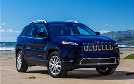 Jeep Cherokee Limited blue SUV car