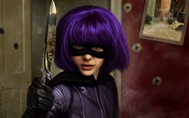 Preview wallpaper Kick-Ass, Chloe Grace Moretz, blue hair