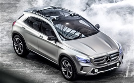 Preview wallpaper Mercedes-Benz GLA concept car, lights, silver