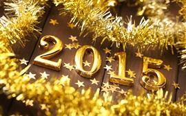 壁紙のプレビュー 新年2015年、黄金の、クリスマス