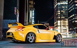 Preview wallpaper Nissan Z34 370z yellow car