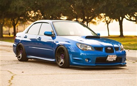 Preview wallpaper Subaru Impreza blue car