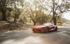 Preview wallpaper Toyota FT-1 concept supercar, speed, road