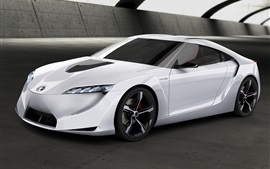 Preview wallpaper Toyota FT-HS concept white car