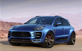 Preview wallpaper 2014 Porsche Macan Ursa 95B blue car