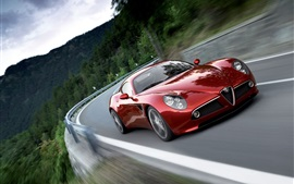 Preview wallpaper Alfa Romeo 8C red supercar