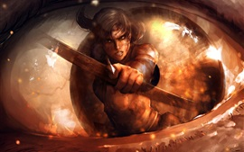 Preview wallpaper Art pictures, Lara Croft, Tomb Raider, arrow
