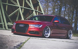 Preview wallpaper Audi A4 red car front view