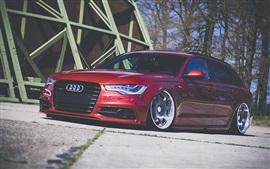 Audi A4 carro vermelho front view