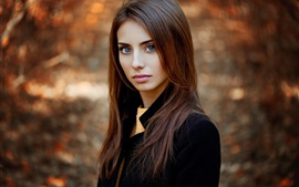 Autumn, girl portrait, look, beautiful
