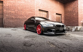 Preview wallpaper BMW M6 F13 black car