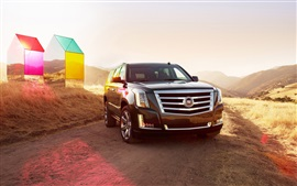 Preview wallpaper Cadillac Escalade Jeep, sunny day