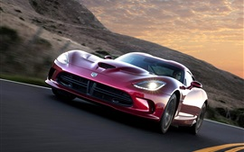 Preview wallpaper Dodge Viper SRT GTS 2012 supercar front view