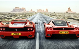 Preview wallpaper Ferrari F50 Enzo red supercar