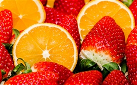 Preview wallpaper Fruits, orange, strawberry, berries