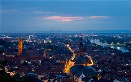 Preview wallpaper Heidelberg, Germany, city, evening, houses, streets, lights